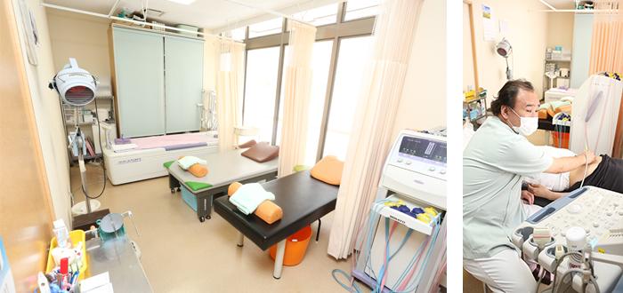 リハビリ室(エコー検査室)